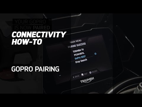 MY TRIUMPH CONNECTIVITY HOW-TO - Pair your GoPro