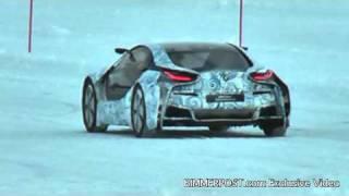 first spy video of bmw i8 hybrid sports car 1 3