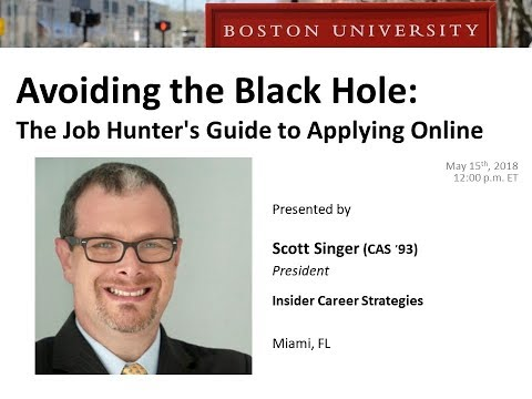 Avoiding the Black Hole: The Job Hunter's Guide to Applying Online