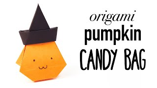 Origami Pumpkin Bag Tutorial for Halloween ♥︎ DIY ♥︎