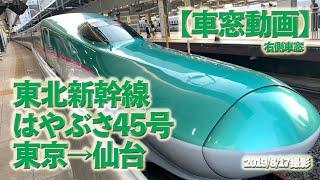 【車窓】東北新幹線 はやぶさ45号 東京→仙台(右側車窓)