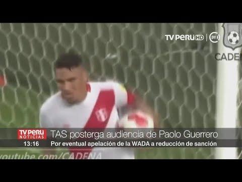 Paolo Guerrero: TAS postergaría audiencia por apelación de WADA