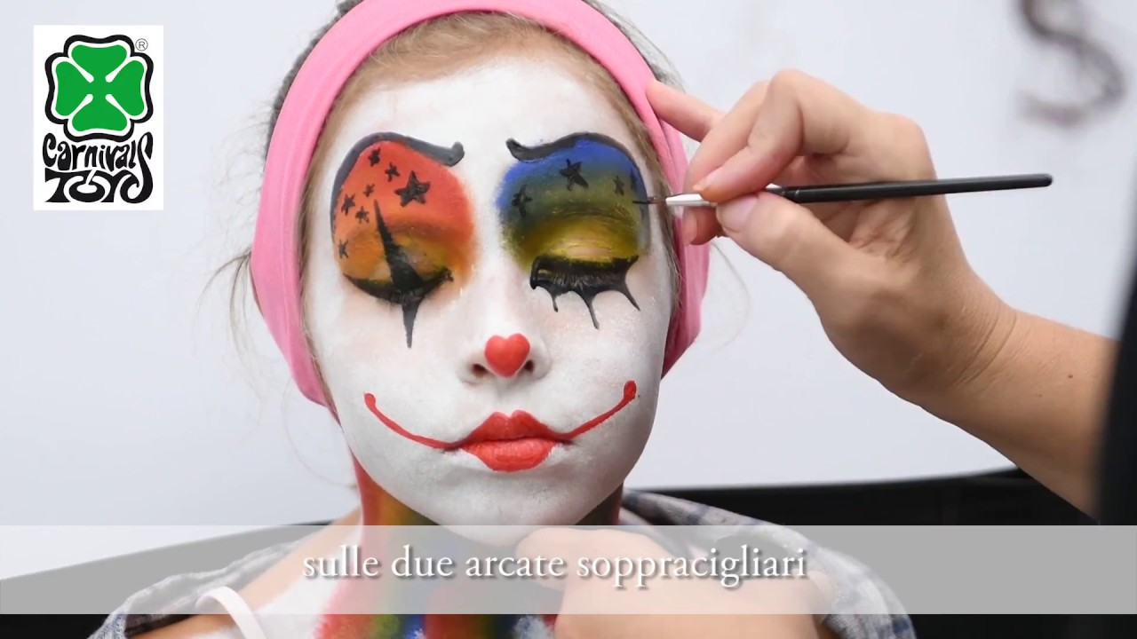 Pagliaccio Truccabimbi.Art 09430 Tutorial Trucco Da Clown Youtube