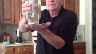 Water Held In Inverted Mason Jar