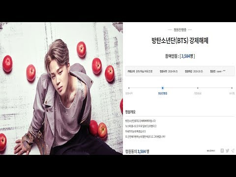 Forced Disbanding of BTS was requested by Online Petition