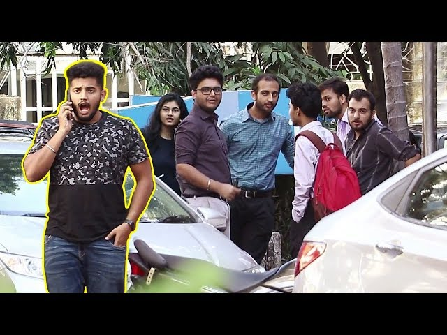Answering Phone LOUDLY in Public Prank / Talking Loudly on Phone Prank- Baap of bakchod - Raj