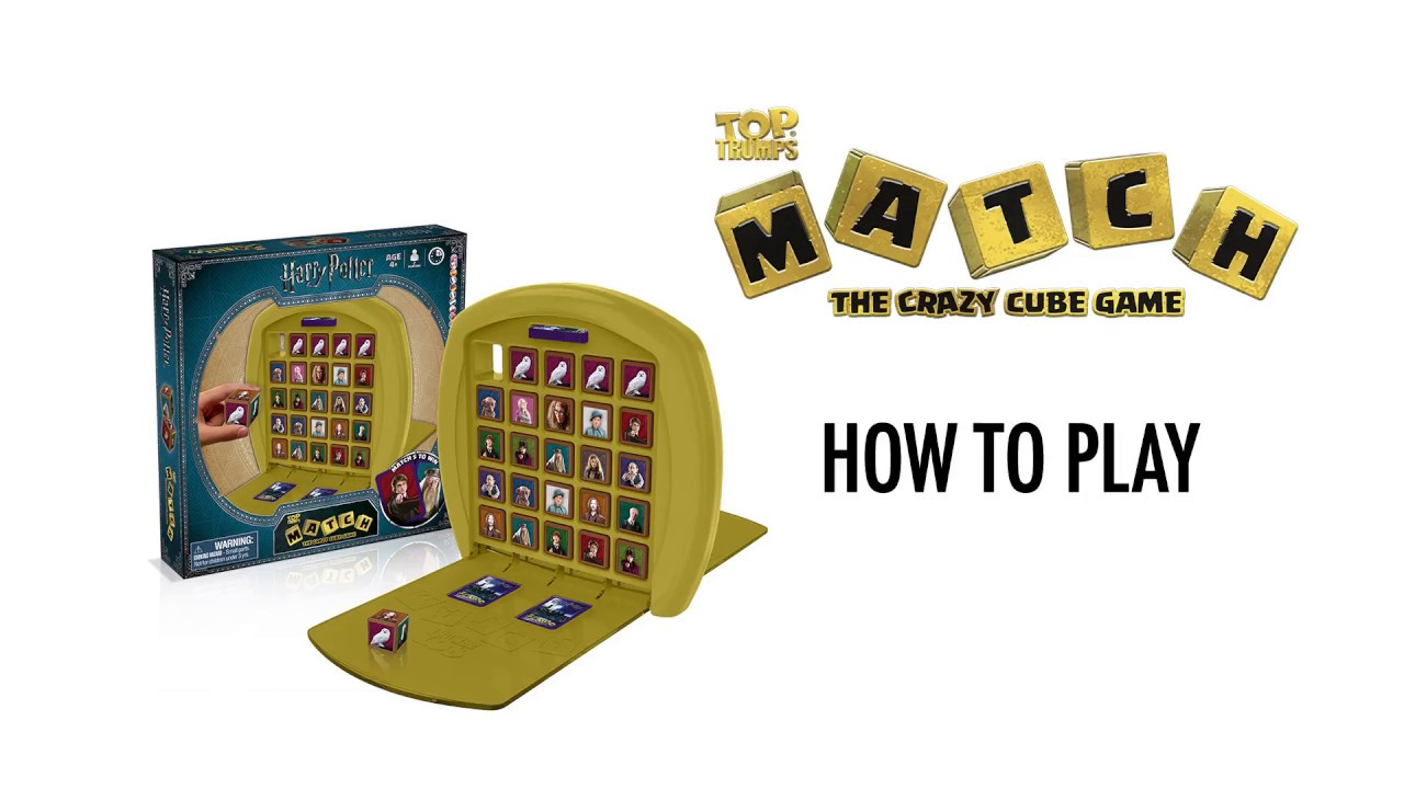 Harry Potter Top Trumps Match Crazy Cube Game by Winning Moves