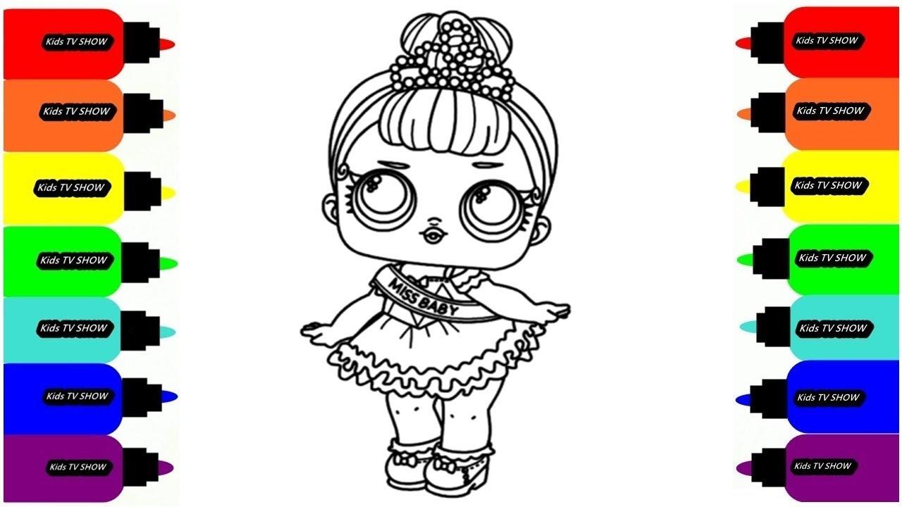 Кукла lol Miss Baby Раскраска // Рисуем Раскраски для ...