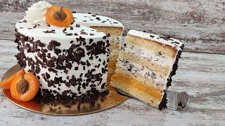 торт АБРИКОС STRACCIATELLA БЕЗ желатина Рецепт абрикосового курда