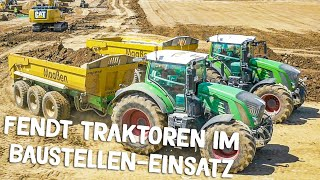 FENDT Tractors  working on contstruction site | Caterpillar excavator | Part 2