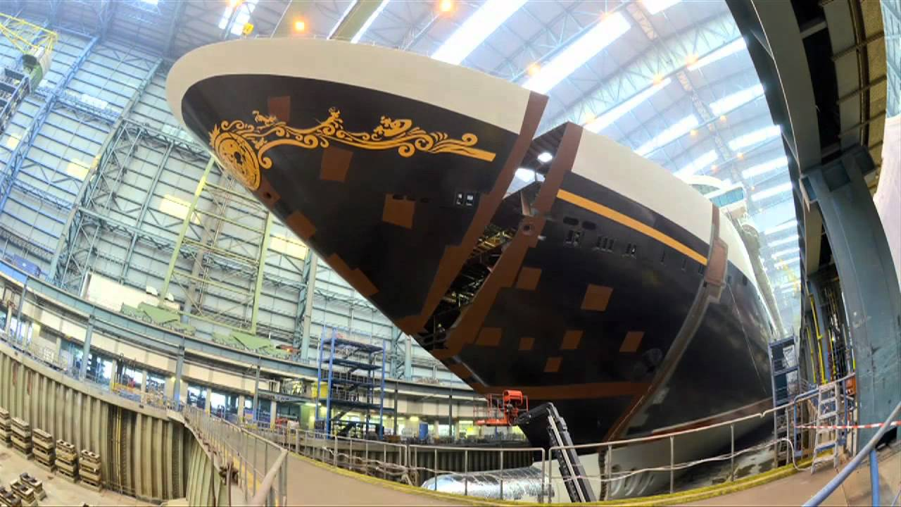Disney Fantasy Cruise Ship Construction Completed With Final - Building a cruise ship