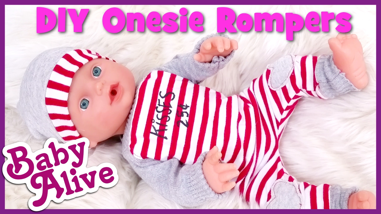 Diy How To Make Baby Alive Doll Onesie Romper Clothes