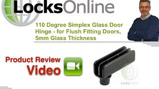 Glass Cabinet Hinge for 5 mm glass Flush Fitting LocksOnline Product Review
