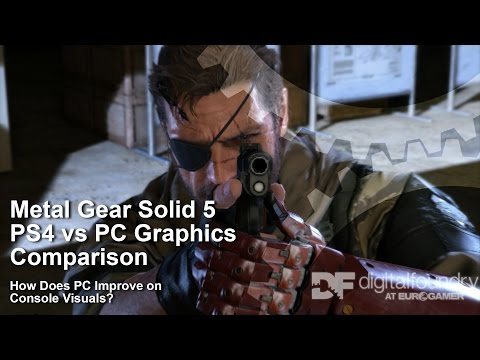 How does Metal Gear Solid 5 on PC improve over PS4?