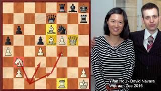 Šachy - Ďábělský Caro Cann - Yifan Hou - David Navara, Wijk aan Zee 2016
