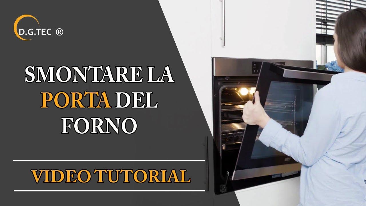 Come smontare la porta del forno Rex Electrolux Aeg - YouTube