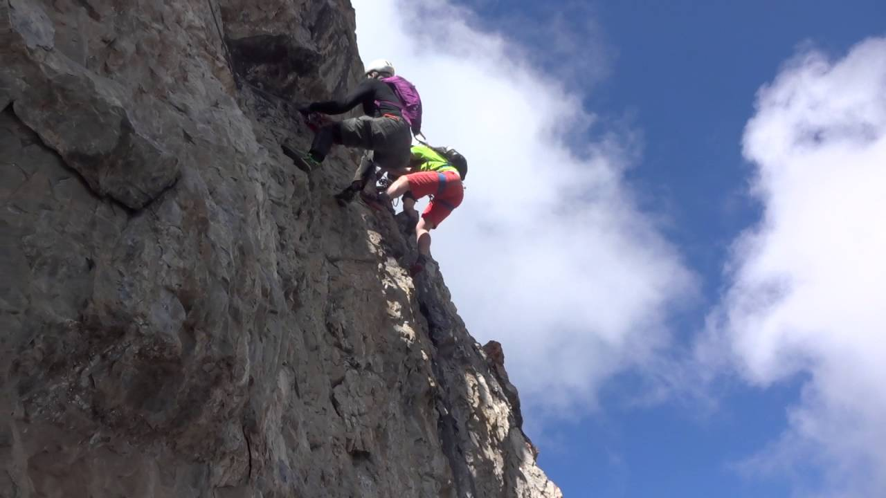 Klettersteig Tabaretta : Tabaretta klettersteig einzige e stelle beim ortler youtube