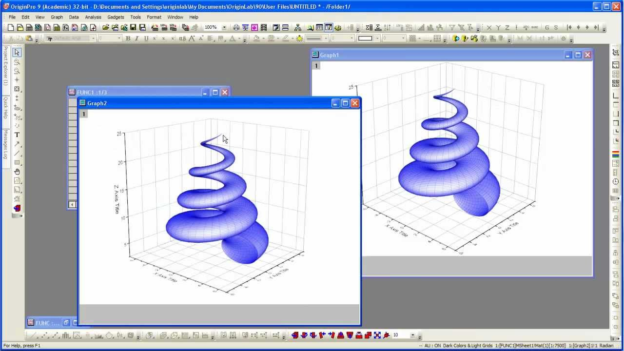 Originlab origin 9 3d parametric function plot youtube for 3d plot online