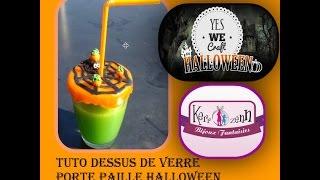 #YWC3HALLOWEEN tuto dessus de verre porte paille halloween