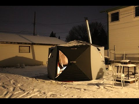 Hot Tent Winter Camping in -33 Degrees
