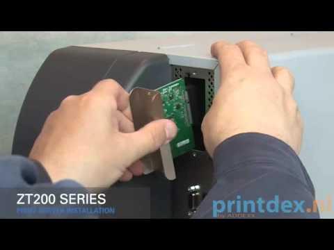 Zebra print server installation zt200 series