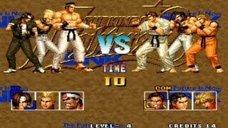 GamePlay Casual #3 - The King of Fighters 95 | A Tigresinha vai Treinar Jogos de Luta ^^