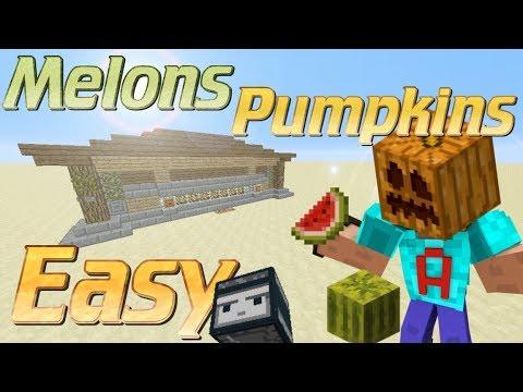 how to build a melon farm redstone
