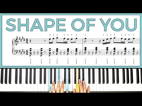 How To Play 'SHAPE OF YOU' By Ed Sheeran On The Piano -- Playground Sessions Piano