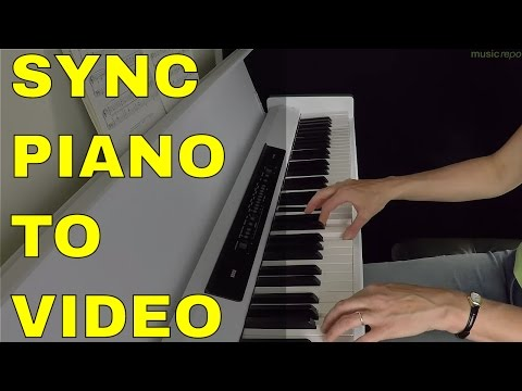 Sync Piano Video To Audio Recording