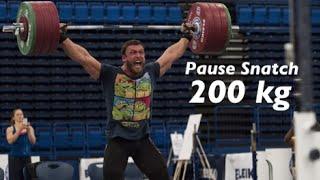 Dmitry Klokov - Pause Snatch - 200 kg (440 lbs) my PR !!!!