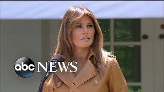 First lady Melania Trump has kidney surgery