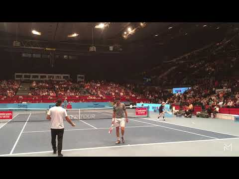 DOMINIC THIEM - DENNIS NOVAK | PRACTICE @ ERSTE BANK 0PEN 2019 COURT LEVEL VIEW (PART 1)