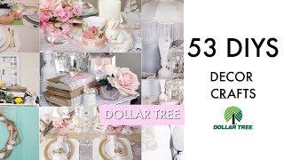 53 Diy Dollar Tree Decor Crafts French Chic / Farmhouse / Glam/ Spring / Easter /bridal /coastal