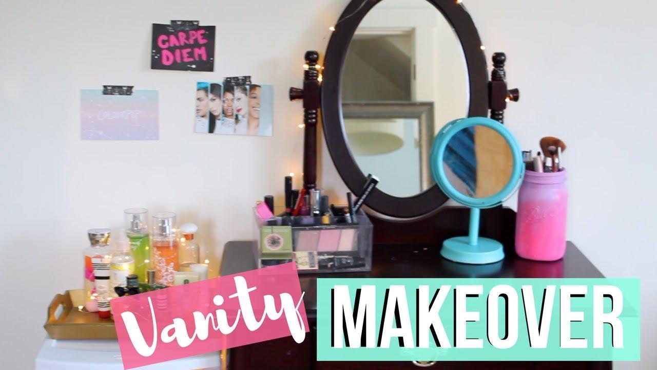 Diy Vanity Makeover Diy Makeup Storage Organization More