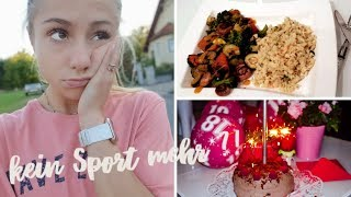 Kein Sport mehr?! Mein 18. Geburtstag, Rezept für mein Abendessen, Muffins backen,..| VLOG