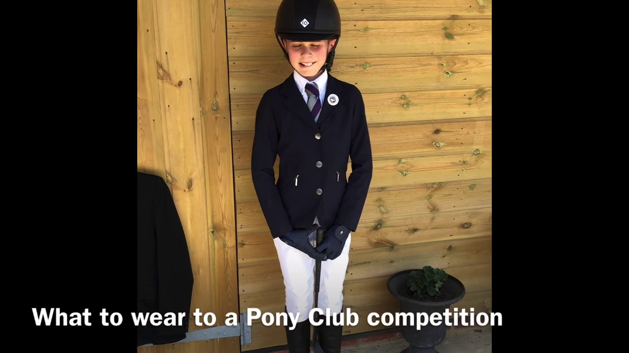 What to Wear: To a Pony Club Competition