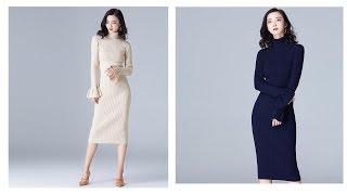 Одежда с AliExpress - Новинка 2017 года, стильное Модные женские осенние и зимние платье