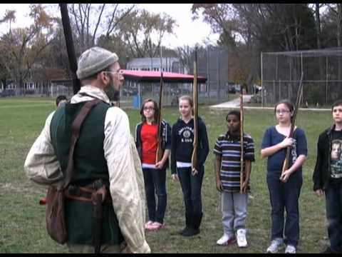 Colonial era event at Glens Falls Middle School