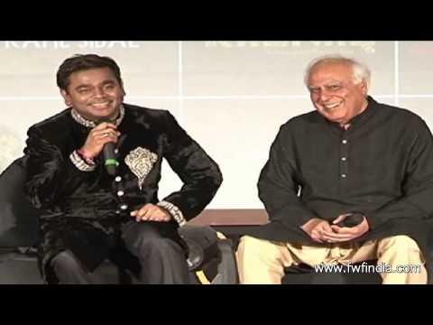 A R RAHMAN & KAPIL SIBAL ASSOCIATION FOR ALBUM RAUNAQ