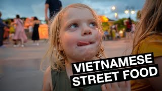 American Family tries VIETNAMESE STREET FOOD (Cao Lao)   Hoi An Vietnam 2019