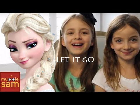 LET IT GO - IDINA MENZEL - FROZEN Cover By 10-Year-Old Sophia & 8-Year-Old Bella⚡️Mugglesam