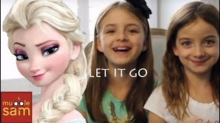 LET IT GO - IDINA MENZEL | 10-Year-Old Sophia & 8-Year-Old Bella Mugglesam Kids