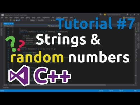 C++ Tutorial 7 - Generating random numbers, basic string datatype usage, operator or