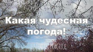 Intermediate Russian: Listening Practice: Какая чудесная погода! RUS CC