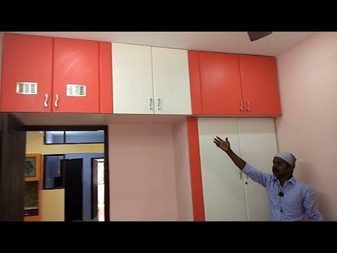 Poppy Colour & White Colour Wardrobes & TV Unit Box for Ramya Modular Kitchen
