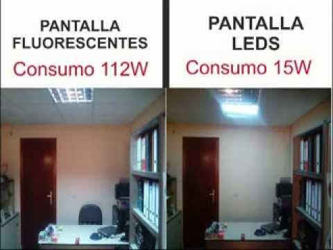 COMPARACION Tubos FLUORESCENTE y panel de LEDS Interesa