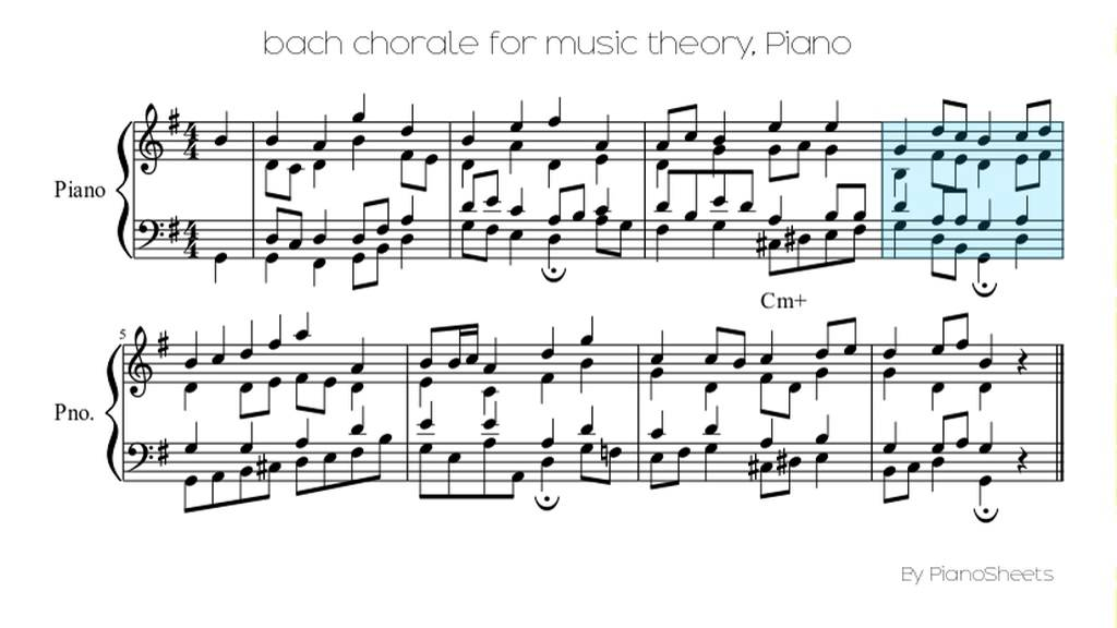 bach chorale for music theory [Piano Solo] - YouTube