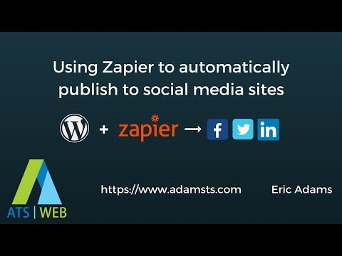 Automatically share WordPress posts on social media sites using Zapier