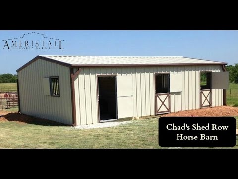 Chad's Shed Row Horse Barn