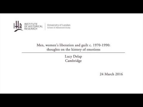 Men, women's liberation and guilt c. 1970-1990: thoughts on the history of emotions